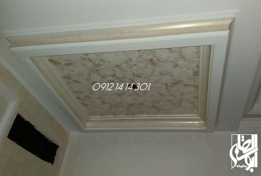 نمونه کار نقاشی فرشته روی سقف